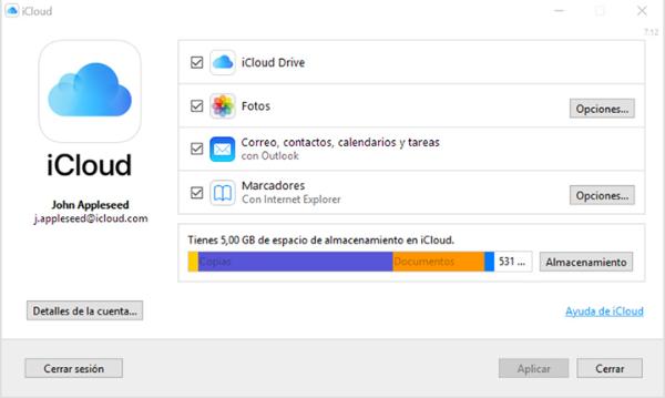 iCloud drive en Windows