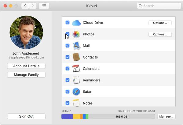Configuración de iCloud en el Mac