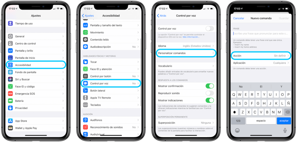 Cómo desbloquear el iPhone con comando de voz