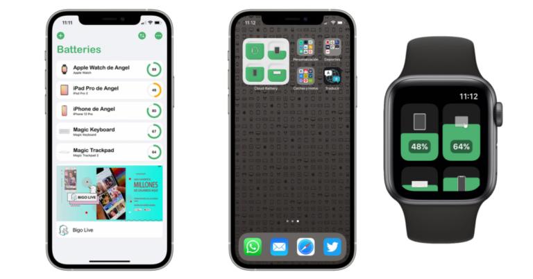 Cómo tener un widget en el iPhone con el nivel de carga en todos tus dispositivos