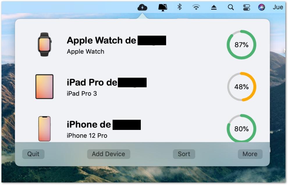 widget en el iPhon